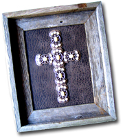 Small Pearl Stone Butterfly Framed Cross