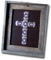 Small Crystal Butterfly Framed Cross