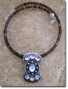 AB Crystal Butterfly Concho Necklace
